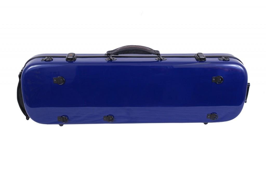tonareli violin case oblong blue