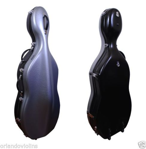 tonarli cello case silver - black